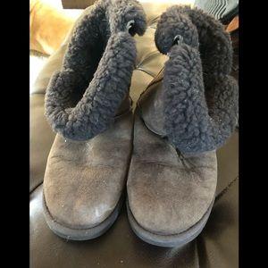 Ugg Boots Dark Brown Suede